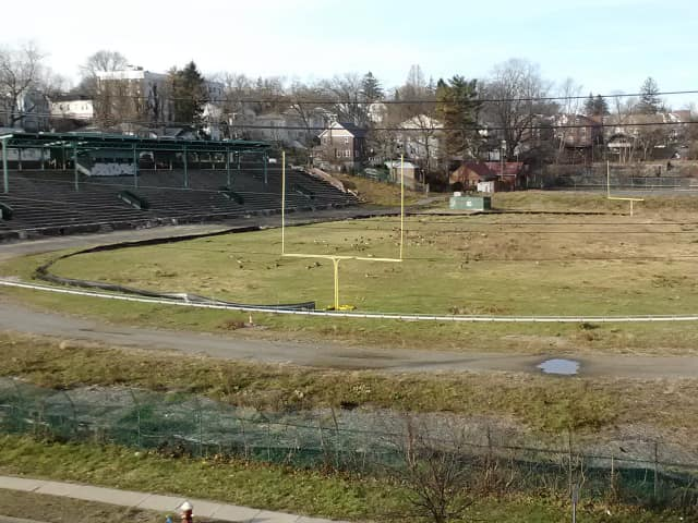 The state Department of Environmental Conservation said soil testing has reveal that fill carted onto Memorial Field is contaminated with coal, ash and slag.