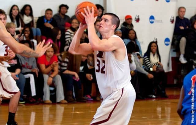 Manhattanville College's Jack Bramswig, a Pleasantville High School graduate, is averaging a team-leading 17.6 points and 11.1 rebounds per game.