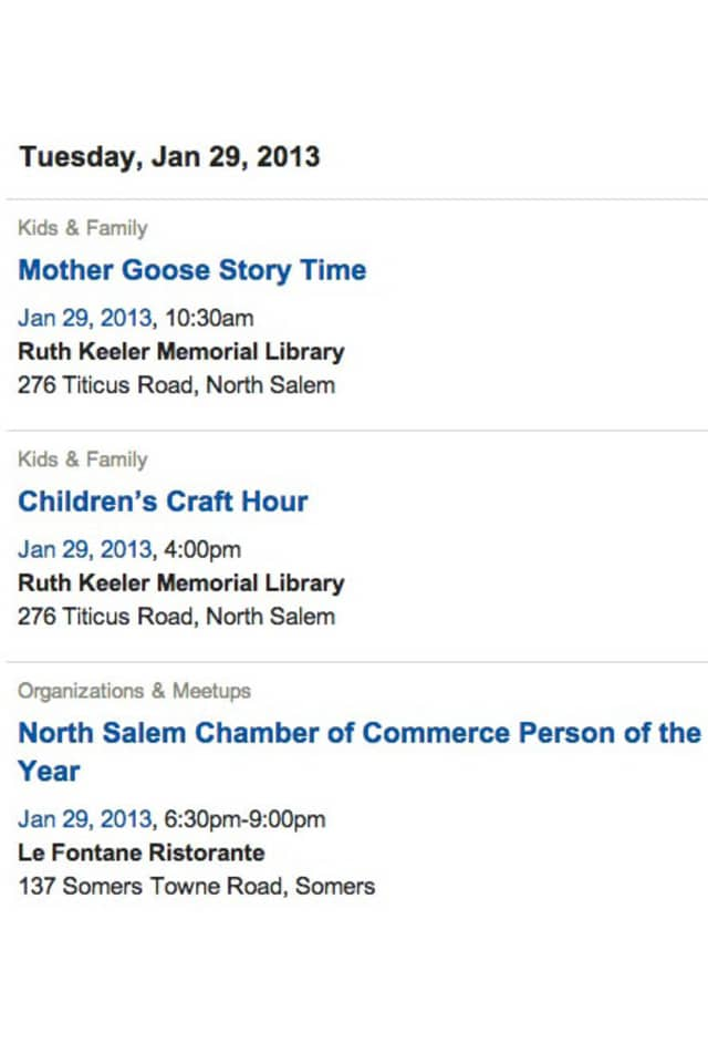 Add your event to The North Salem Daily Voice calendar.