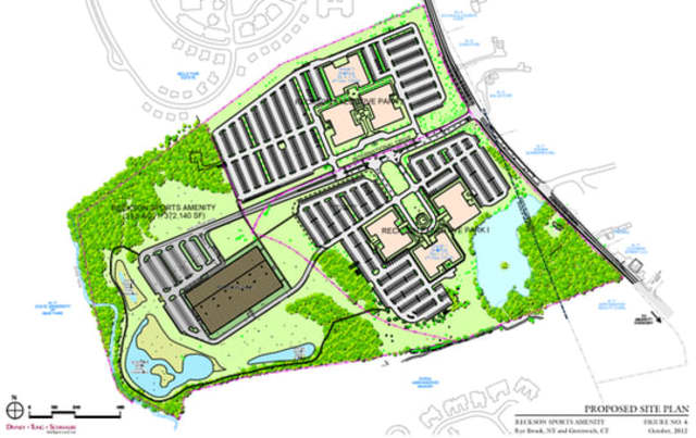 A mock-up plan has been submitted for a proposed ice rink/recreational facility in Rye Brook.