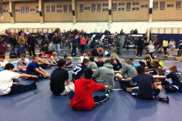 Young wrestlers packed Zeoli Field House at Wilton High School on Sunday for a youth tournament.