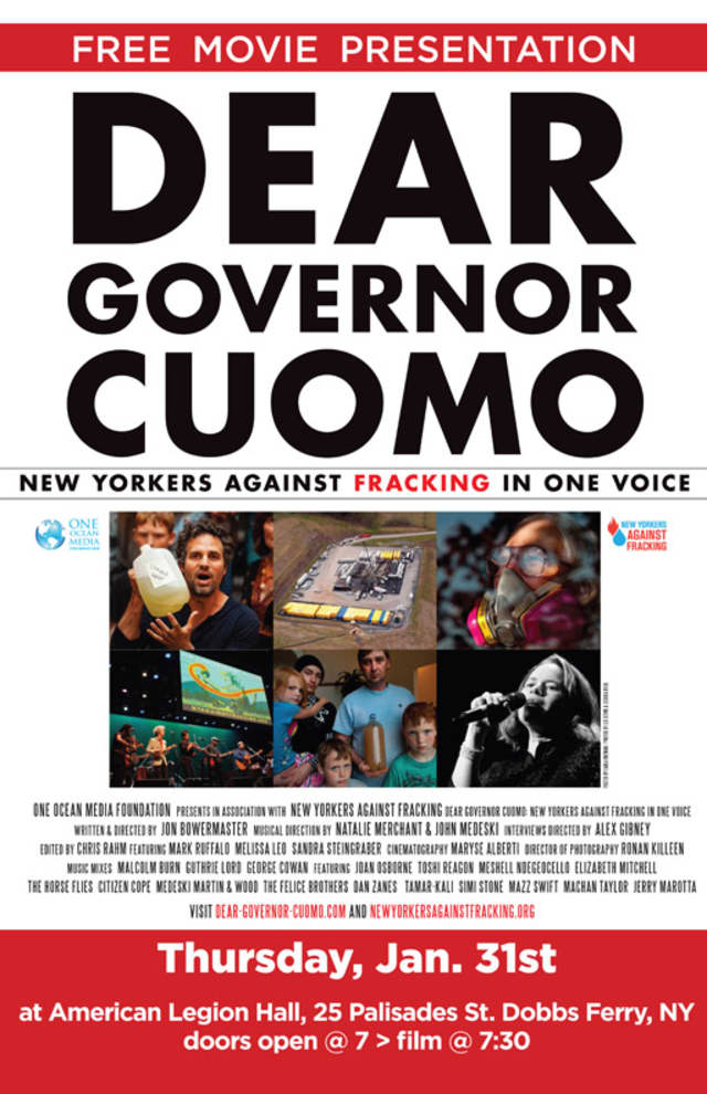 The anti-fracking concert protest film will be screened in Dobbs Ferry on Jan. 31.
