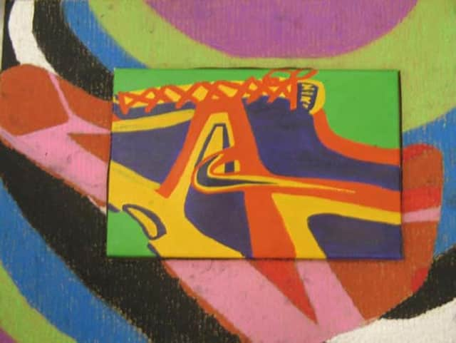"""This artwork by Michael Delancy is one of 75 pieces on display at the """"Young Artists on the Rise"""" exhibit."""