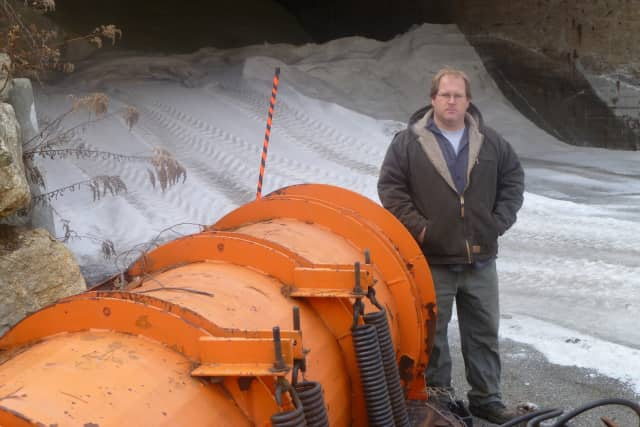 Pound Ridge Highway Supervisor Vinnie Duffield said his crews were out in force Monday morning laying down salt.