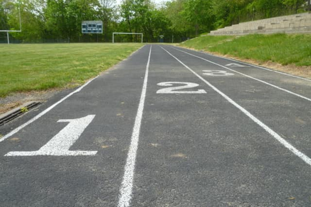 The Reynolds Field running track is used by school teams and residents.