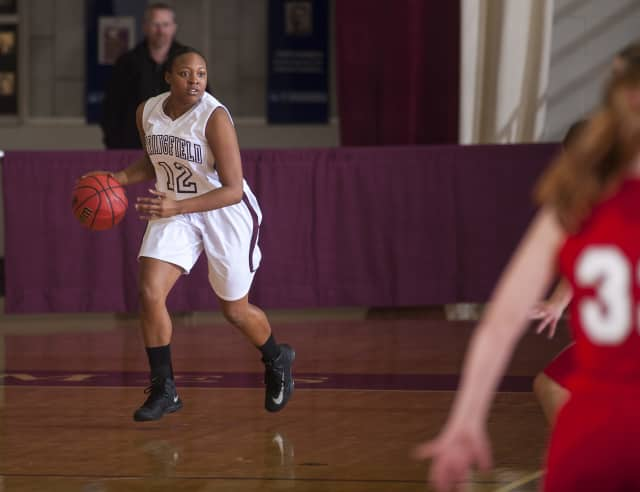 Tamara Tribble, a Valhalla graduate, is a captain and starter on the Springfield College women's basketball team.