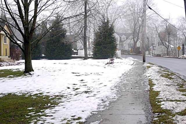 At the corner of Abbot and Gilbert streets in Ridgefield there is a sidewalk. But cross the street onto Ramapoo Road and neither side has a place for walkers, something that concerns residents.