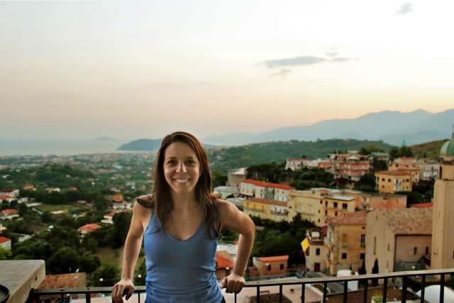 "Stamford native Mikela Mallozzi overlooks her families hometown of Minturno, Italy, where her show ""Bare Feet"" will be shot."