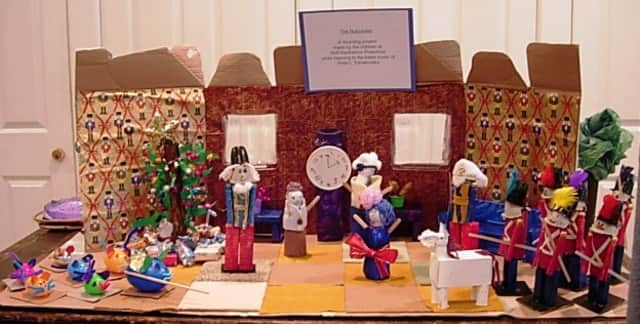 """Students at the Scarsdale music school used recycled goods to recreate """"The Nutcracker."""""""