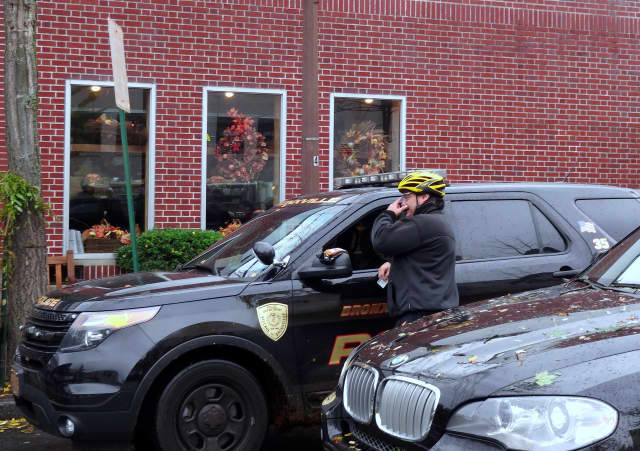 Bronxville police officers had to intervene after two motorists got into an altercation.