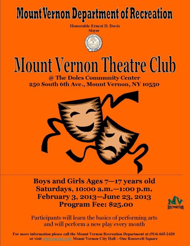 The Mount Vernon Theatre Club begins on Saturday and runs through June 23.