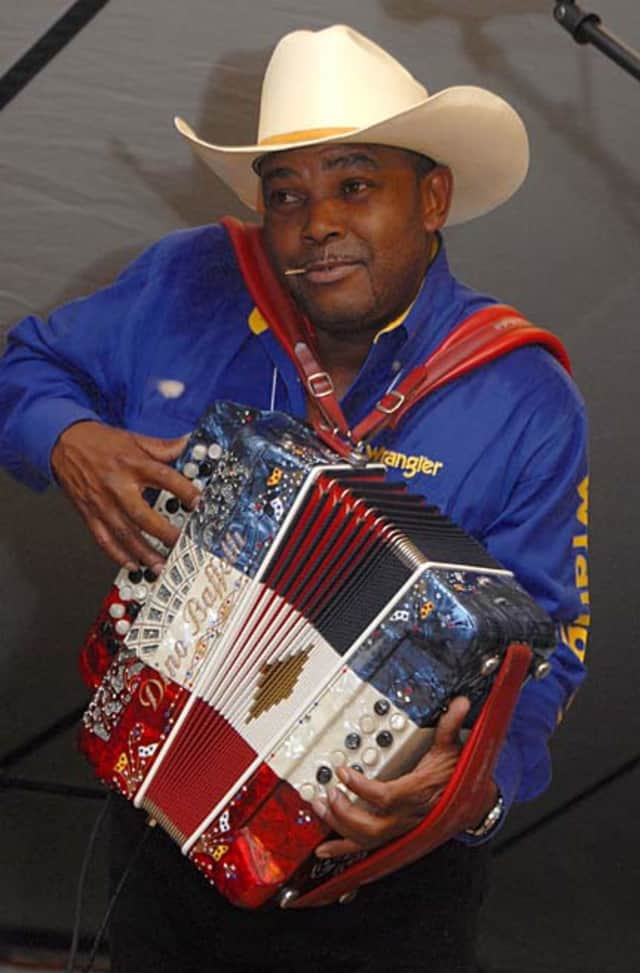Jeffrey Broussard and the Creole Cowboys perform at the Bayou Restaurant's anniversary party Tuesday night in Mount Vernon.