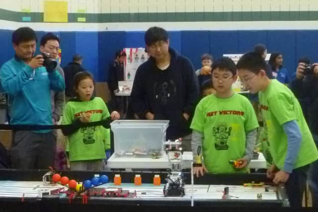 Students from around the Hudson Valley competed in a First Lego League robotics competition in Elmsford on Saturday.