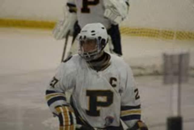 Senior captain David Morgan has six goals and 11 assists for the Pelham varsity hockey team.