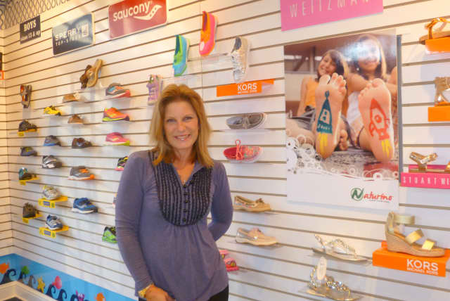 Kathy Sanford, owner of Petite Chou Chou, says she's thought about opening a kids' footwear store for years. It's open now around the corner from the original Chou Chou clothing store.