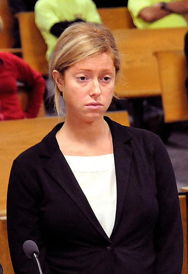 Kate Regan is facing a pair of felony charges stemming from an August 2010 incident where a New Canaan man died after being hit by a car.