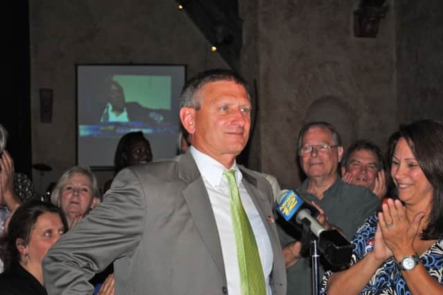 Yorktown Supervisor Michael Grace, pictured at his victory party in 2011, is expected to seek re-election in November.
