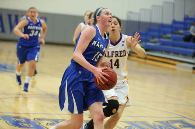 Hartwick College freshman Brittney Dumas earned Rookie of the Week and Player of the Week honors in the Empire 8 Conference for a big game last week.
