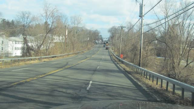 Potholes are seen on Westchester Ave in Rye Brook/Port Chester.