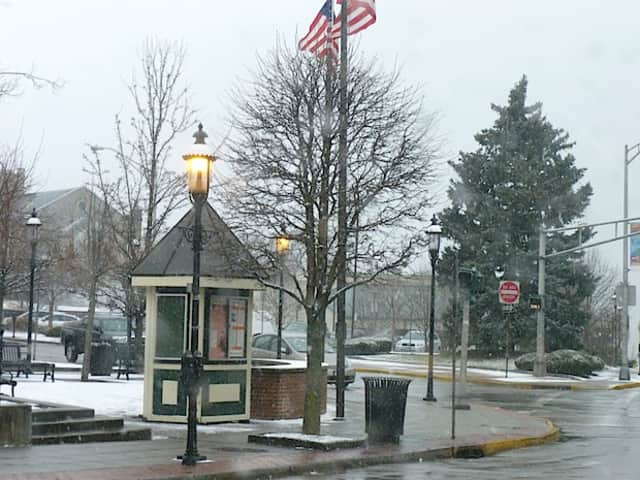 Very little snow was sticking on the streets of Ossining Friday morning, but village and town officials said they were prepared for the worst later in the evening.