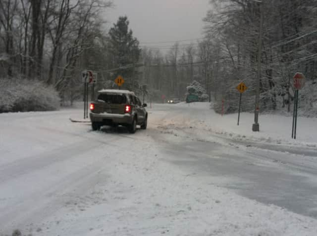 A private snow plow operator suffered minor injuries in Rye Brook during Tuesday's blizzard. He was ticketed for driving an uninsured, unregistered motor vehicle, police said.