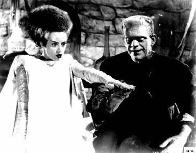 "Watch ""The Bride of Frankenstein"" starring Boris Karloff and Elsa Lanchester at the Tarrytown Music Hall on Wednesday."