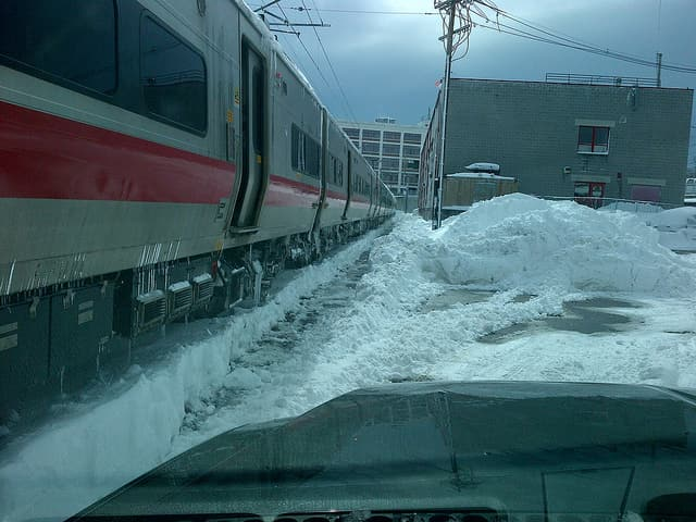 Metro-North Railroad is shutting down all train service due to the heavy snow.