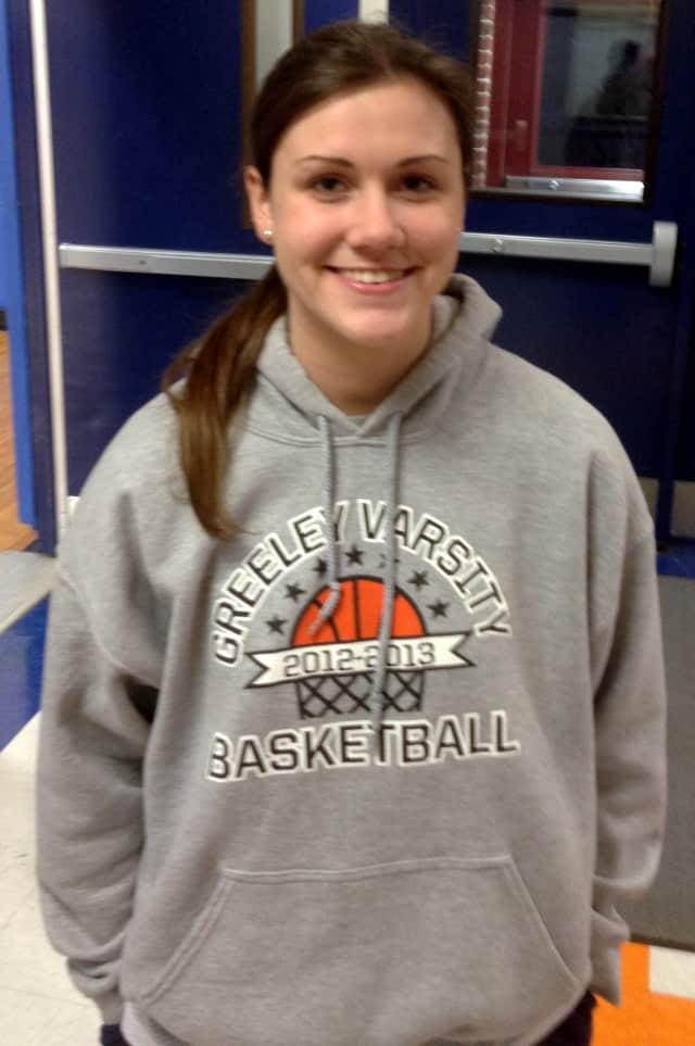 Horace Greeley High School girls basketball star Jackie Brett will lead the Quakers into the sectional playoffs on Friday.