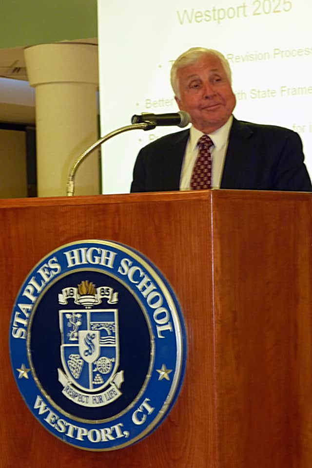 Westport Superintendent Elliott Landon rolled out his final budget plan.