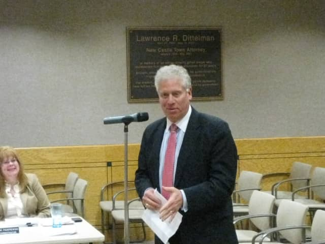 Westchester County Legislator Michael Kaplowitz discussed the future of Playland Amusement Park Tuesday night at the New Castle Town Board meeting.