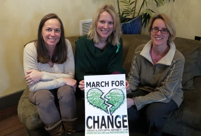 Lisa Ruscitti, Kristina Larson and Amanda Cordano are all going to be in Hartford for the March for Change in hopes seeing a change in gun legislation.