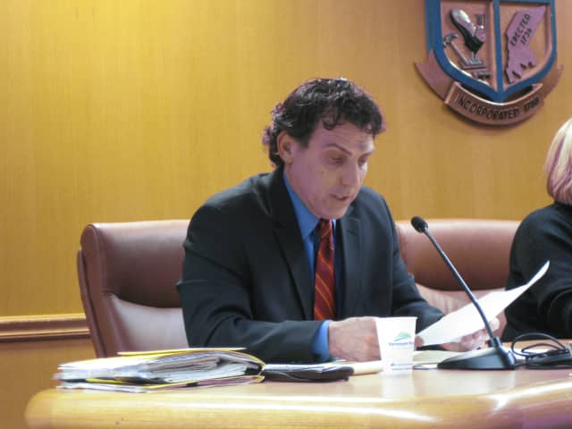 North Castle Supervisor Michael Schiliro is apparently angry with Michael Fareri, an Armonk developer.