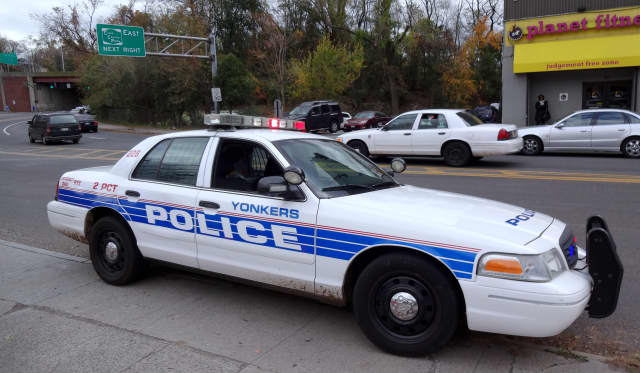 Police responded to reports of armed men at a Yonkers apartment building on Friday.