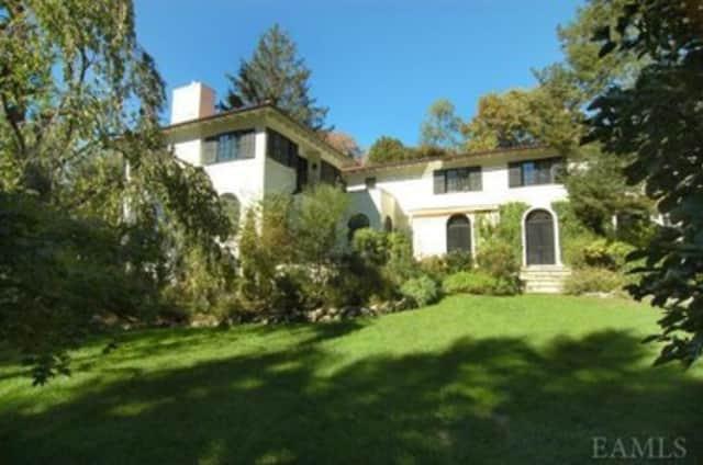 This five-bedroom Mediterranean villa on Ardsley Avenue in Irvington is on the market for $2.1 million.