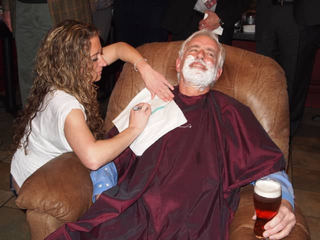 Hospital President John Federspiel  at the Beard Bash in 2012.
