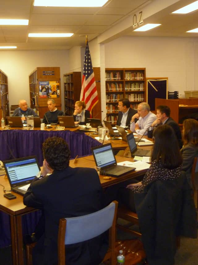 Information packets are available at the district office for those wishing to run for the Katonah-Lewisboro School Board (pictured) in the May 21 election.