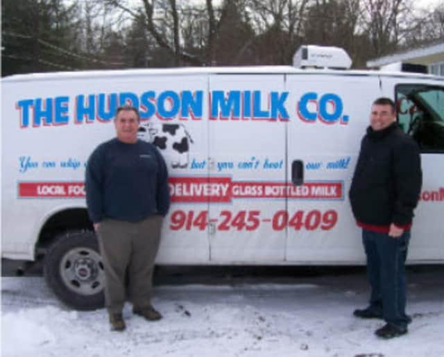 Hudson Milk Company's most popular item is its half-gallon milk bottles.