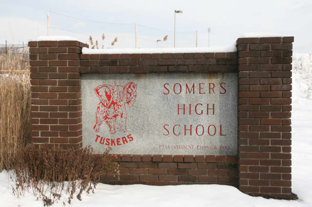 The Somers High School outdoor track is closed to the public while school is in session.