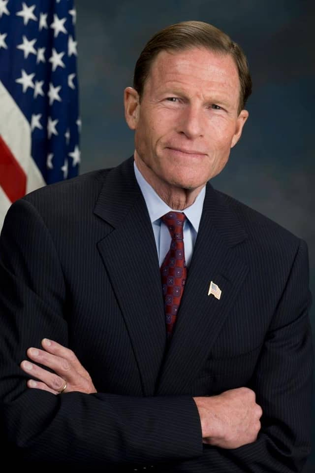 Connecticut Sen. Richard Blumenthal will speak to the Greenwich Retired Men's Association meeting on March 23.