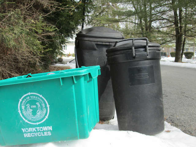Many Yorktown residents were unaware garbage would be picked up Monday because it was a holiday.
