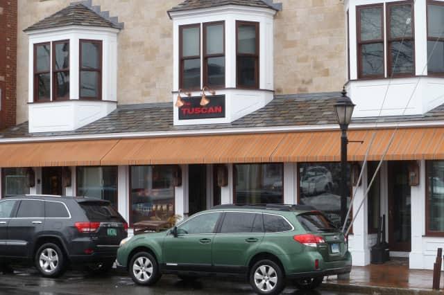 New Canaan Police are investigating the reported theft of items from the closed Tuscan restaurant on Main Street.