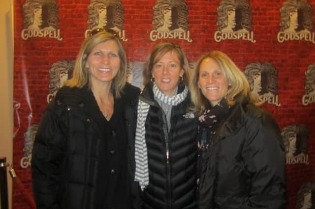 Jodi Sorrells, left, Elizabeth DeRosa, center, and Kristine Lilly were players on Wilton's 1989 girls basketball team. That is the only team in school history to win a league girls basketball title.