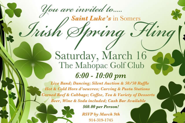 St. Luke's Church of Somers holds its Spring Fling on March 16.