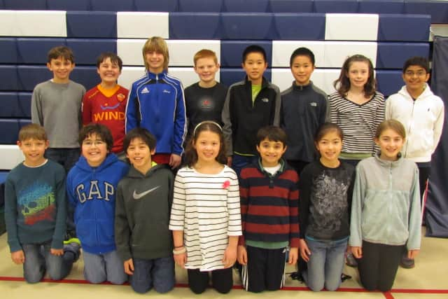 """These fifth graders at Wilton's Cider Mill School will take part in the Wilton Education Foundation's spring fundraiser """"Are You Smarter Than A Fifth Grader?"""" The show takes place at 7 p.m.Friday at Wilton High School."""