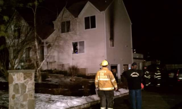 Mohegan Lake firefighters put out a blaze Monday at a Cortlandt home on Greenlawn Road.