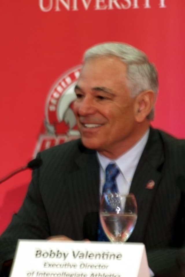 Stamford resident Bobby Valentine is athletic director at Sacred Heart University in Fairfield.