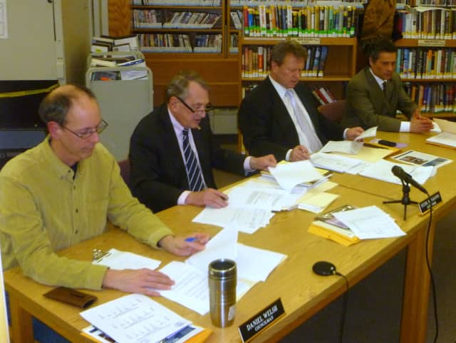 The Lewisboro Town Board discusses the new local law that would restrict commercial traffic on Kitchawan Road.