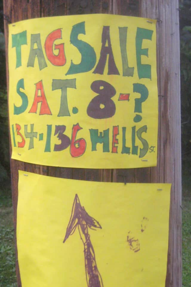 A number of tag sales are taking place around Tarrytown this weekend.