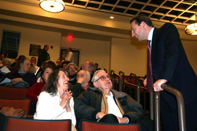 Westchester County Executive Rob Astorino spoke with Somers residents at Wednesday's town hall meeting.