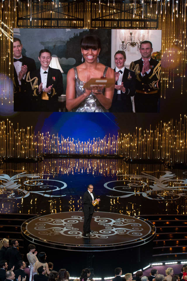 Purchase College Professor David Grill was the lighting director for First Lady Michelle Obama's presentation of the Academy Award for Best Picture.